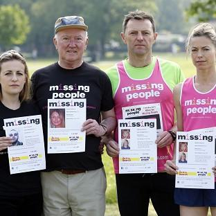 This Is Lancashire: From left, Rachel Elias, Peter Lawrence, Gerry and Kate McCann before running in the Missing People Charity Run on Clapham Common