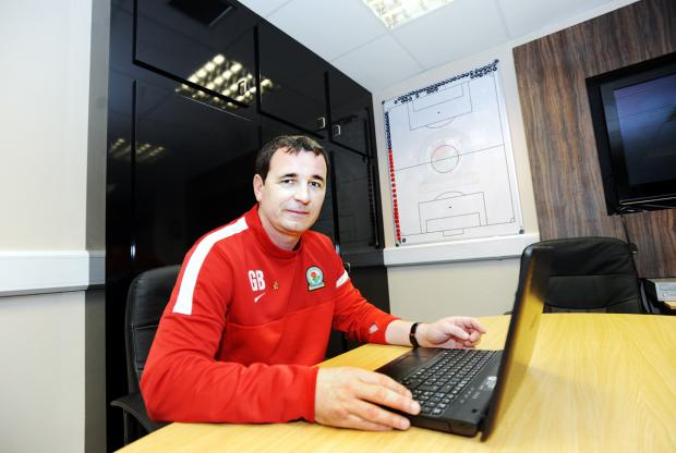 Gary Bowyer at work in his office