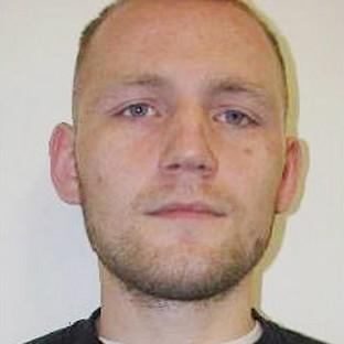 This Is Lancashire: Dean Jackson, 27, from Newcastle-upon-Tyne who alongside Damien Burns, 39, originally from Scarborough, North Yorkshire, has absconded from the category D Hatfield Prison