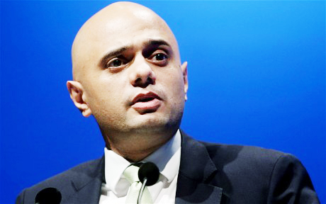 Sajid Javid, secretary of state for culture, media and sport and minister for equalities