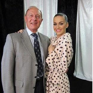 Screengrab image taken from the Twitter feed of Adam Mountford of Geoffrey Boycott and Katy Perry