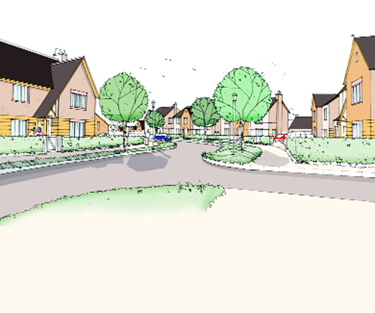 Artist impression of the new development