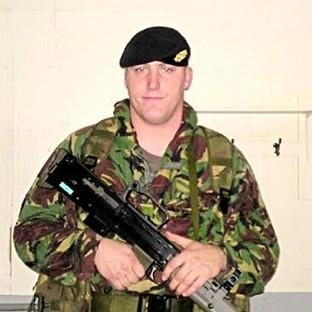 Private Robert Wood died along with Private Dean Hutchinson when fire engulfed their tent at Camp Bastion in Afghanistan (Ministry of Defence/PA)