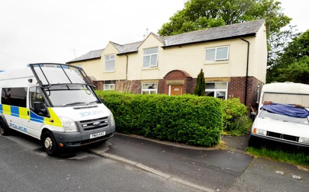 The 42-year-old, who has not been named, was with her boyfriend at the home of Peter Sline in Moorland Avenue, Feniscowles