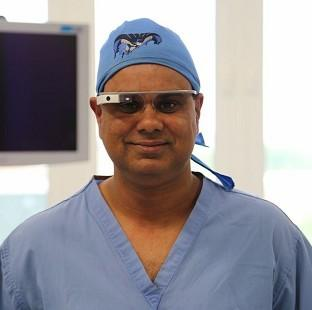 This Is Lancashire: Shafi Ahmed, Barts Health NHS Trust. Google Glasses