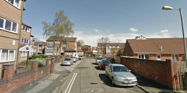 This Is Lancashire: Duke Street North, where a woman was found unconscious. Picture from Google Maps.