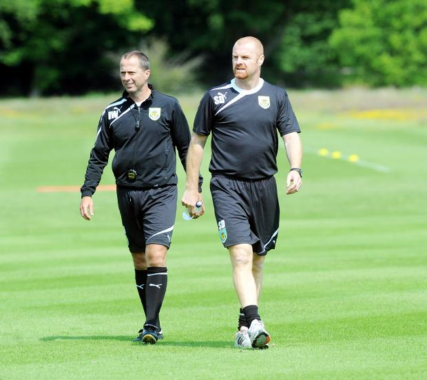 Ian Woan (left) and Burnley boss Sean Dyche