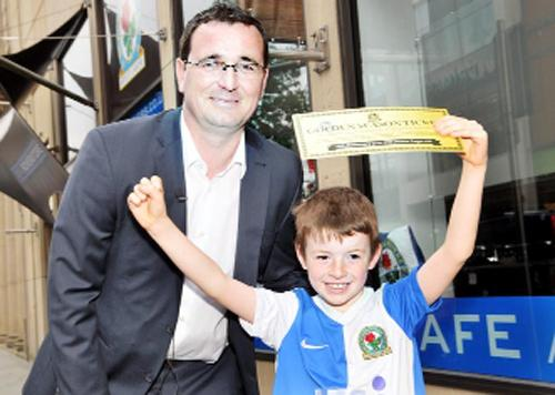 Gary Bowyer springs his surprise before taking Matthew into the club shop for an orange juice
