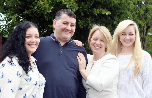 Joseph Duffy, with his wife Wendy and daughters Natasha, aged 20, left, and Maria, aged 16