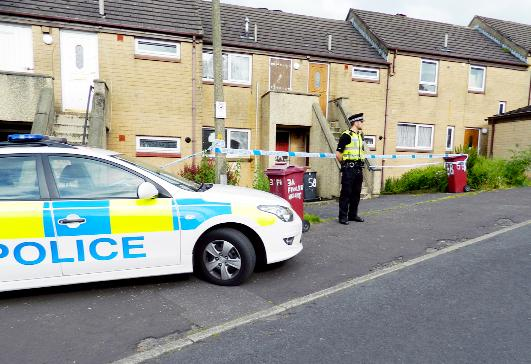 Police cordon off a property in Fowler Height Close  Pictures by Abby Hartley