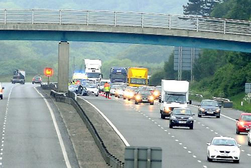 This Is Lancashire: Air ambulance called to M65 after crash