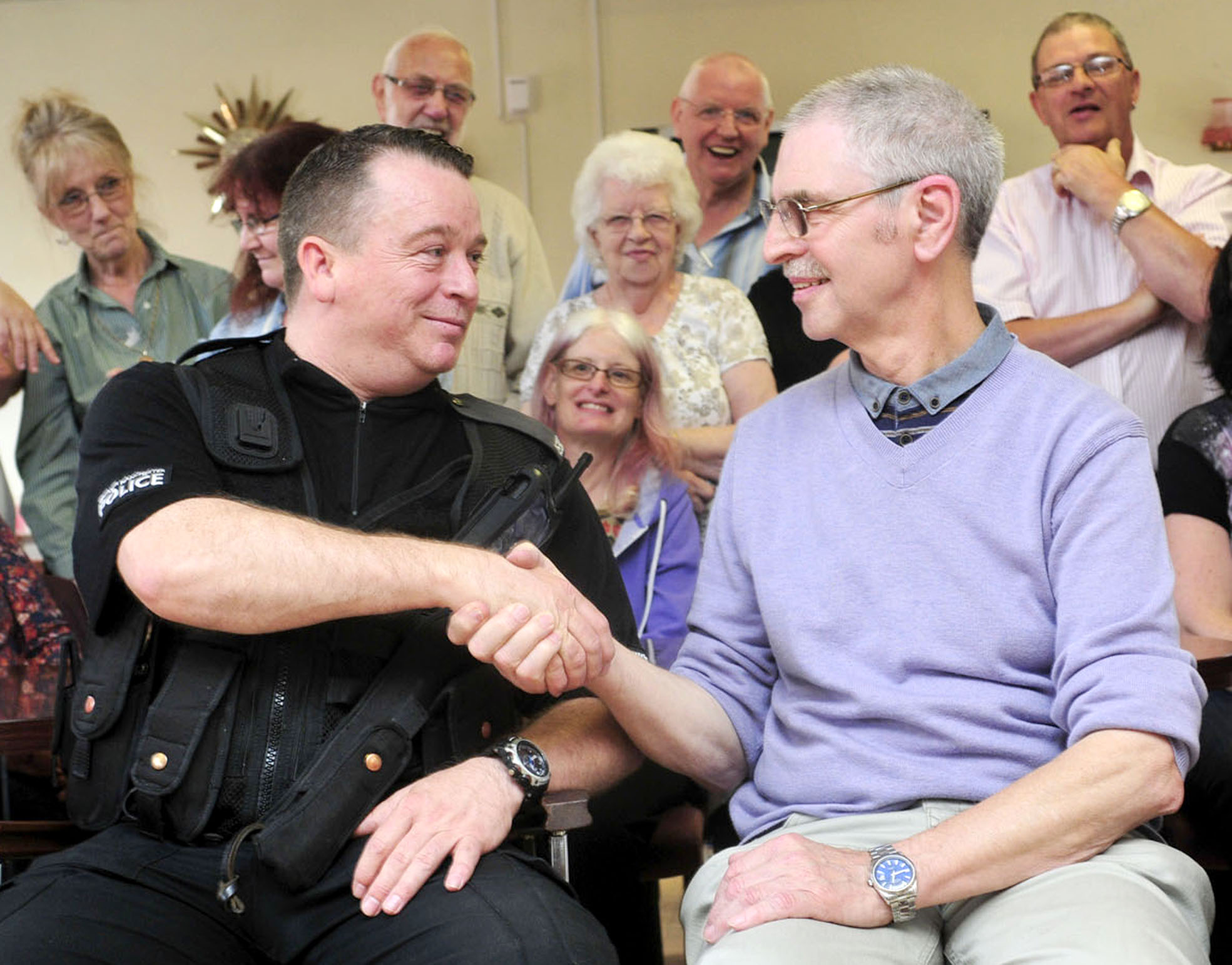 PC Bryan Newbold meets members of Bolton deaf community