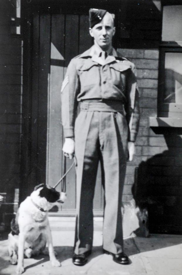 This Is Lancashire: Jim in wartime with a canine friend