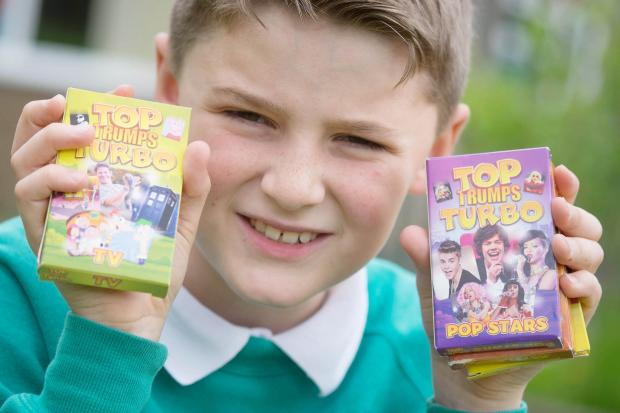 Joe Wadsworth with his Top Trumps cards