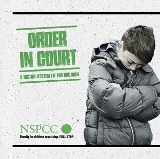 This Is Lancashire: A poster for the NSPCC Order in Court campaign