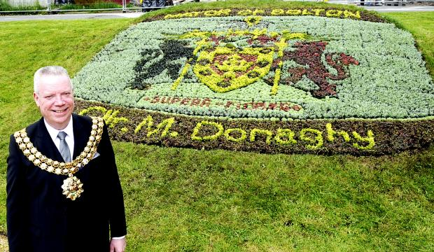 This Is Lancashire: Floral honour for Mayor of Bolton