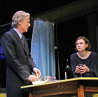 Carey Mulligan and Bill Nighy rehearsing Skylight (John Haynes)
