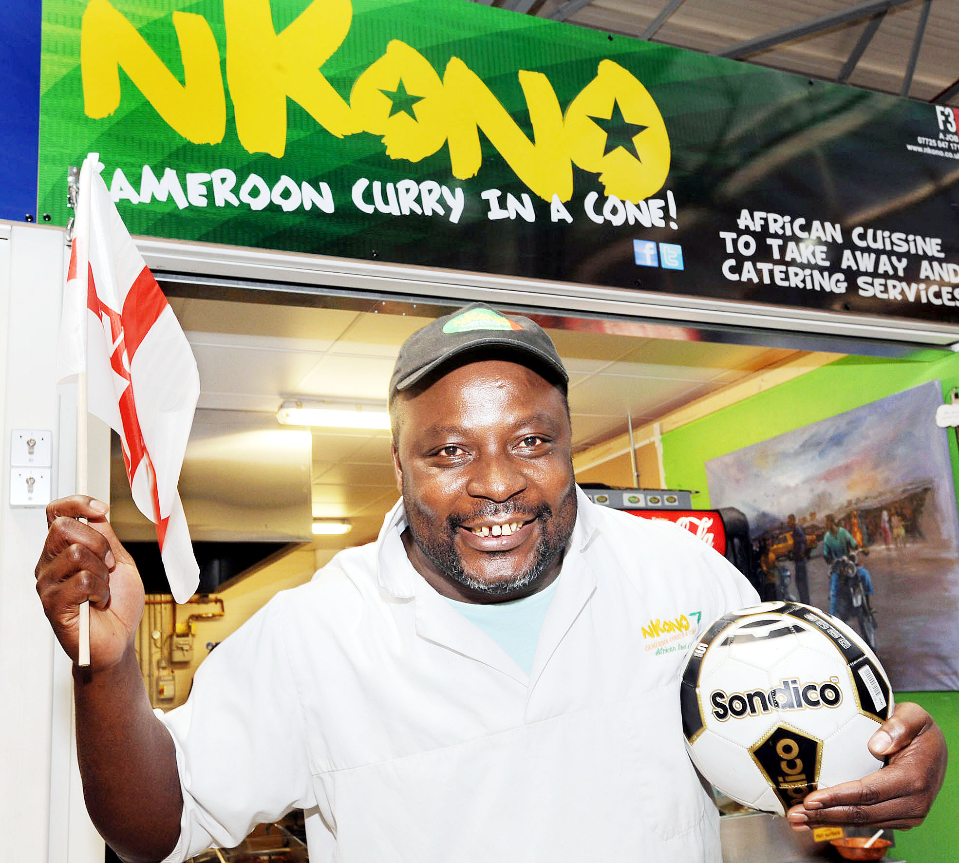 Alain Job from African curry stall Nkono in Bolton Market