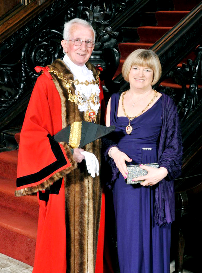 Mayor and Mayoress of Chorley, Councillor Roy Lees and his wife Margaret