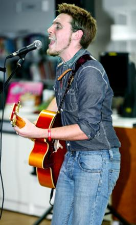 Performer Alex Hardcastle at last year's Chorley Live