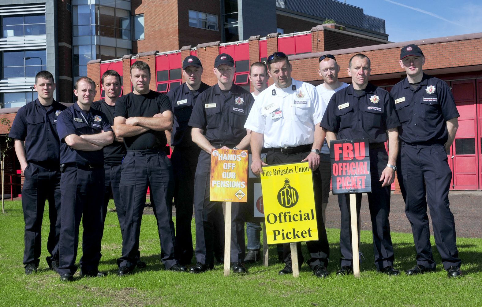 Bolton's firefighters begin their 24-hour strike