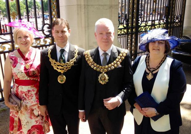 Mayor of Bolton attends Royal garden party at Buckingham Palace