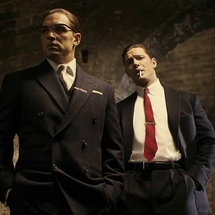 This Is Lancashire: Tom Hardy in his latest roles as Ronnie (left) and Reggie Kray in the film, Legend (Studiocanal)
