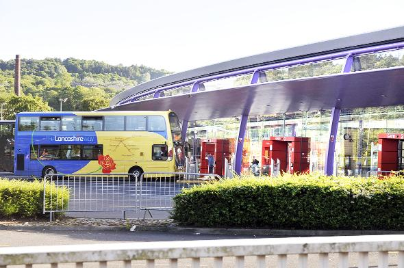 Burnley bus station where the boy was found. He had not boarded the bus pictured