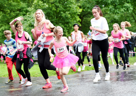 RACE FOR LIFE: Towneley Park awash with colour for annual Cancer Research run