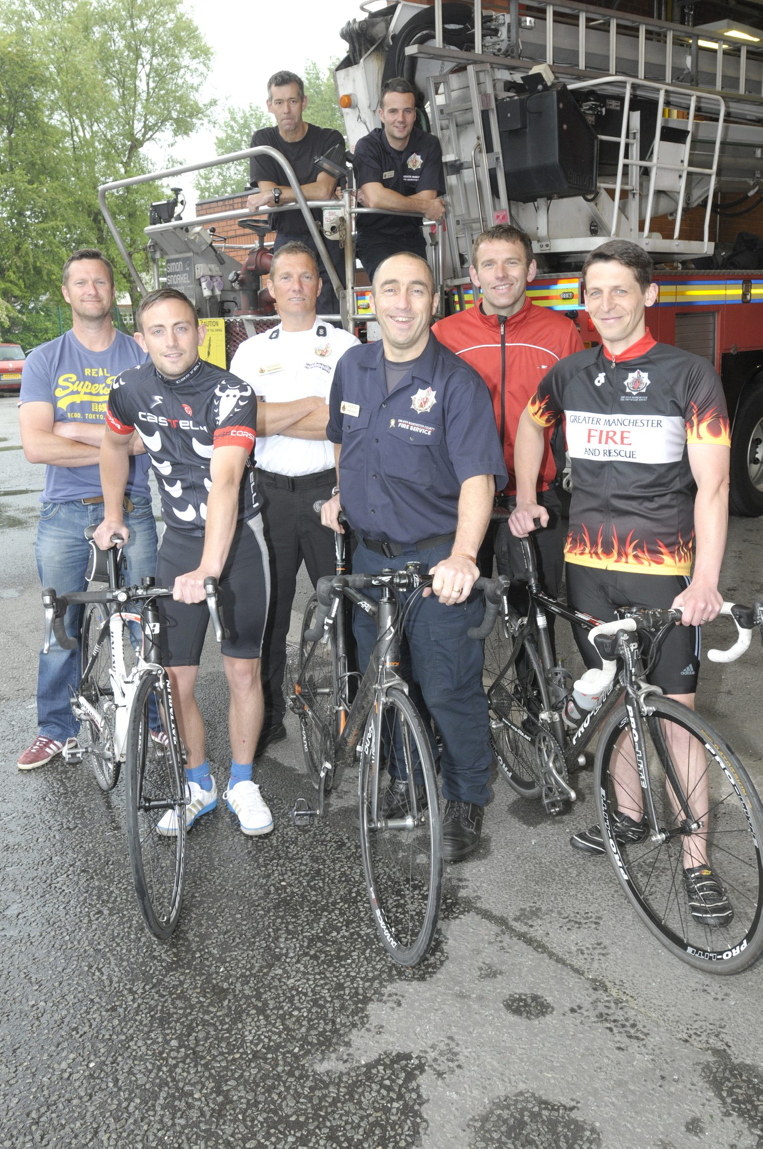 The group of fundraising firefighters