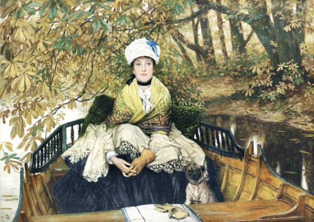 James Tissot's painting, entitled Waiting, was bought by an East Lancs cotton magnate and has now been sold for almost  £1 million to an unknown buyer