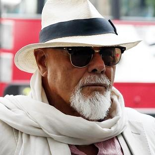 Former pop star Gary Glitter arrives at Westminster Magistrates' Court
