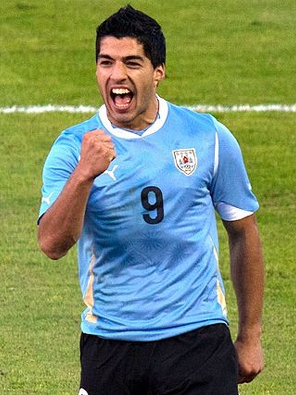 Luis Suarez, who appeared to take a bite into Giorgio Chiellini's shoulder last night