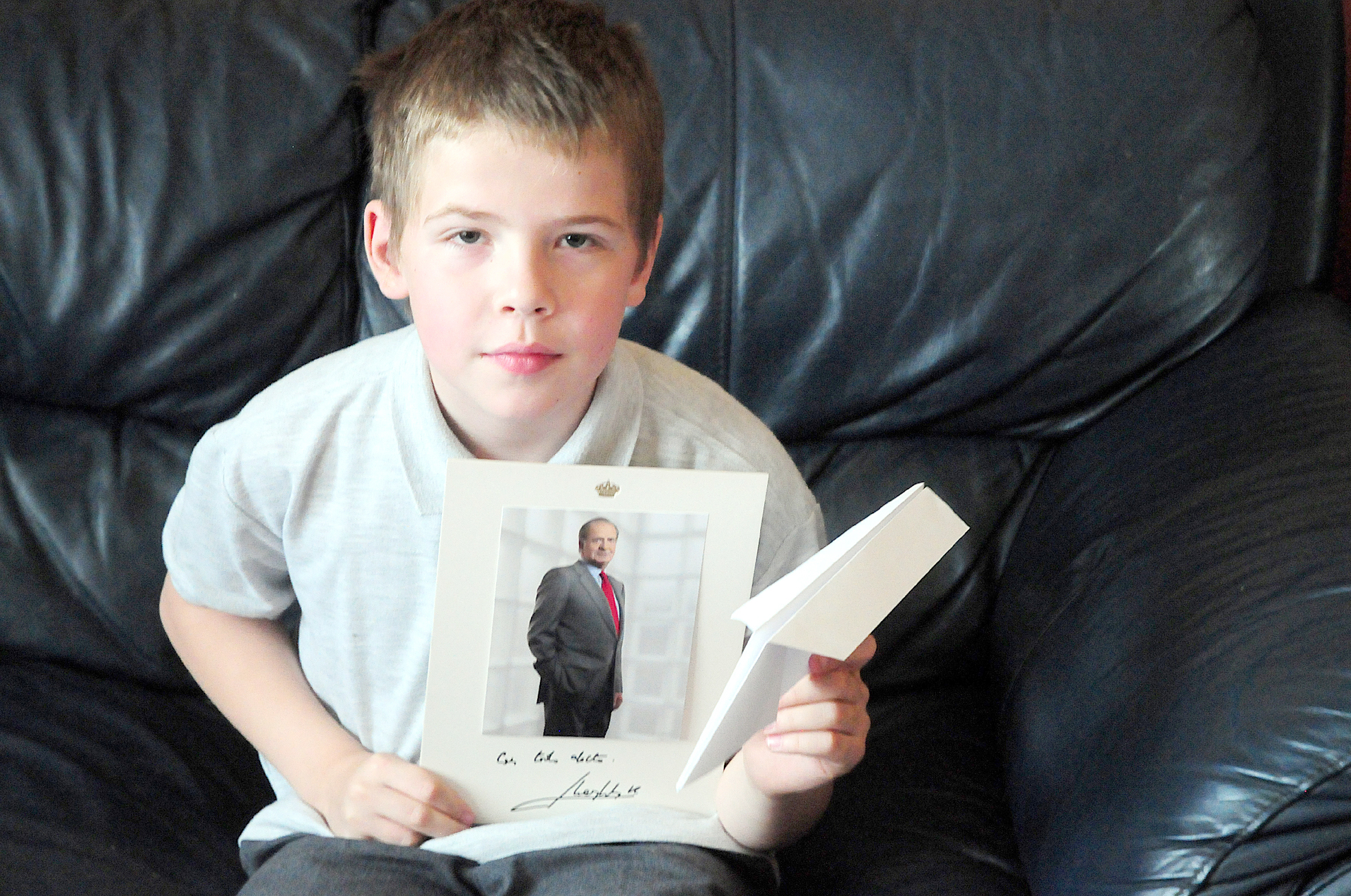 Astley Bridge youngster gets letter back after sending paper aeroplane to King of Spain