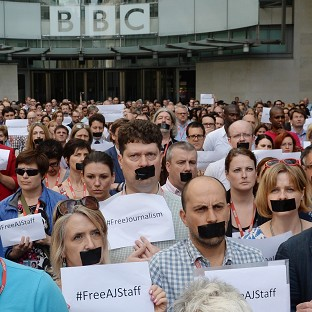 Silent demo over jailed journalists