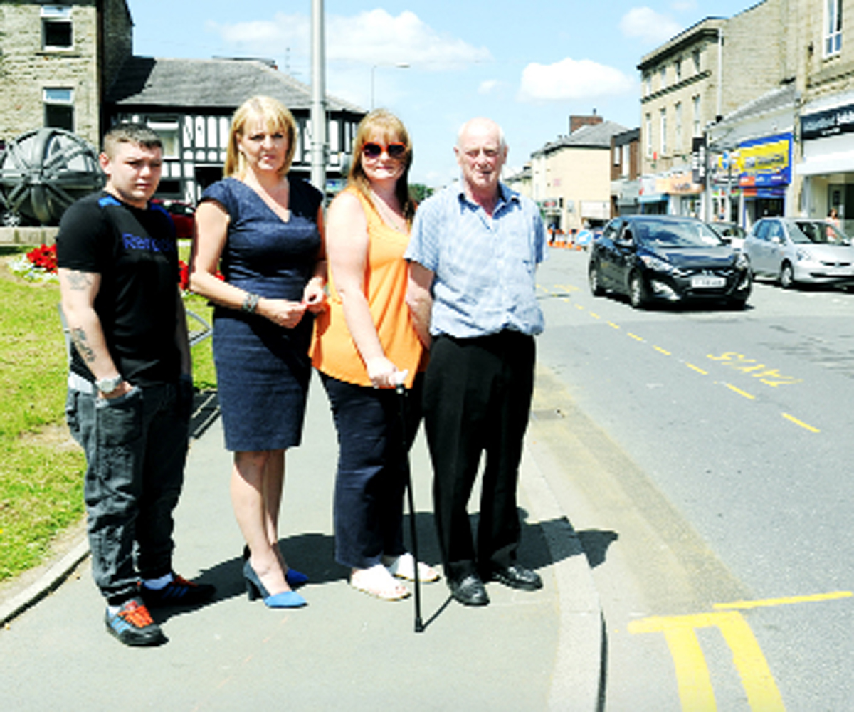 From left, traders Jake Young Debra Ainsworth-Lord, Lorna Read and Ron Nairey