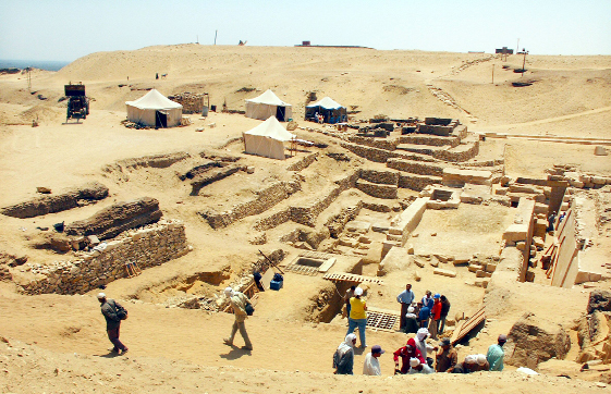 An archaeological site in Egypt