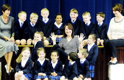 This Is Lancashire: Margot with her class and colleagues