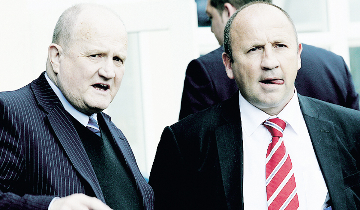 Eric Whalley with former Stanley manager John Coleman