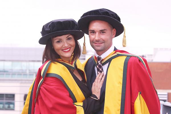 Martine McCutcheon and Chris Eagles get honorary degrees from University of Bolton