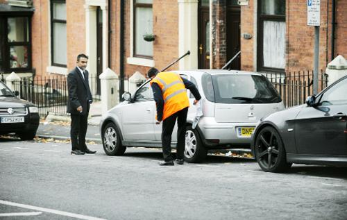 Cars are cleaned up after the graffiti attacks last November, by Ethan Hesketh