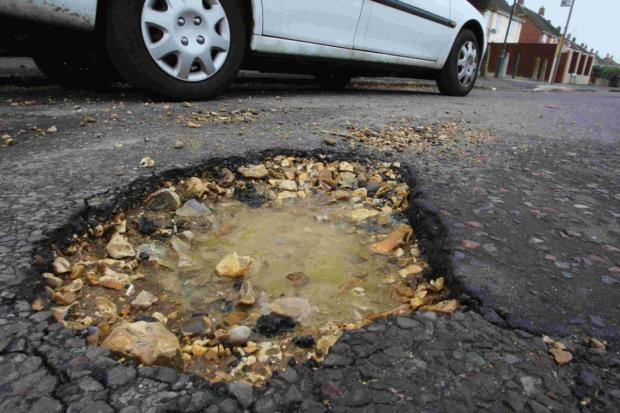£70,741 has been spent on pothole rep