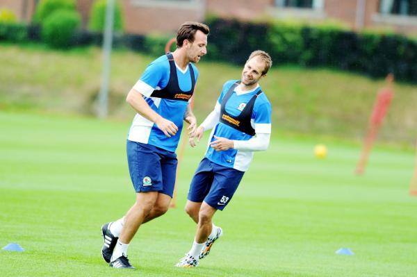 New boys Chris Brown and Luke Varney at pre-season training