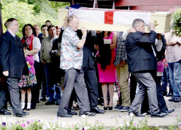 Mourners bid farewell at funeral of Dave Burke - who died while on holiday in Turkey