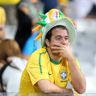 Brazil fans were dejected after their team's humbling at the hands of Germany in the World Cup semi-final