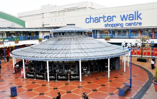 Burnley's Charter Walk has seen an increase in rent prices and is popular with major national retailers