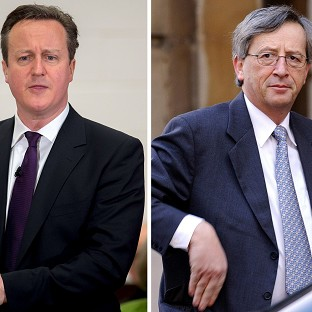 David Cameron (left) is said to have offended Luxembourg over his opposition to Jean-Claude Juncker