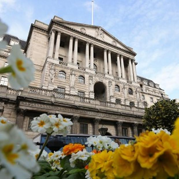 This Is Lancashire: The Bank of England in London as Britain's longest stretch of low inflation for nine years was confirmed when official figures were published