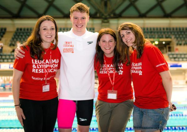 From left, Emma Jones, regional fundraising manager for Leukaemia and Lymphoma Research in the Midlands, Lewis Coleman, Katie Leason, media manager, and Stephanie Cade, fundraising press officer