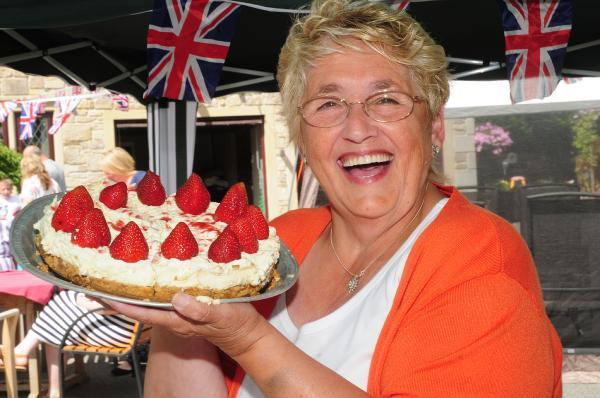 This Is Lancashire: Lynda Twist at the street party in Capitol Close